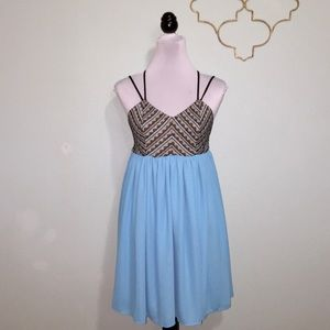 Altar'd state black and teal baby doll dress