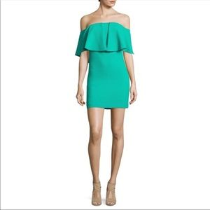 BRAND NEW!! Off the shoulder green dress