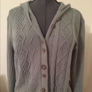 J. Jill Medium Knit Cardigan w/ Hoodie