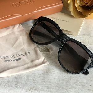 Oliver Peoples Reigh Wayfarer Frame Sunglasses