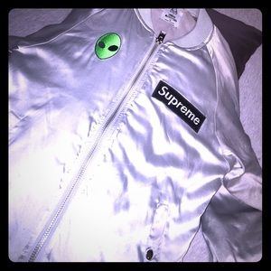 Unif x Urban Outfitters Silver Bomber Jacket M