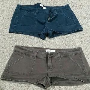 Hollister 2 pair shorts