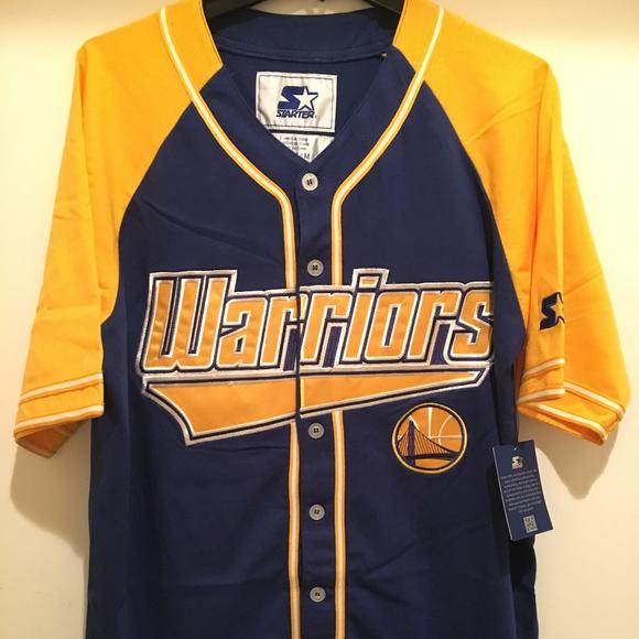 wholesale dealer 307a0 36a10 Golden State Warriors Baseball Jersey by STARTER NWT