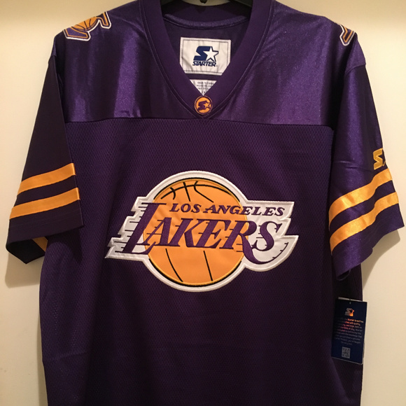 ddebd49f0 LA Lakers Football Jersey by STARTER -NBA Licensed