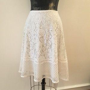 Forever21 white lace Aline skirt