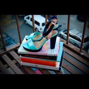 H&M color block heel sandals