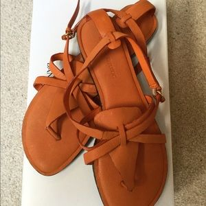 Banana Republic Orange Leather Sandals-Never Wore!