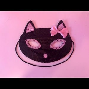Claire's Black Kitty Sequin Mask 💕