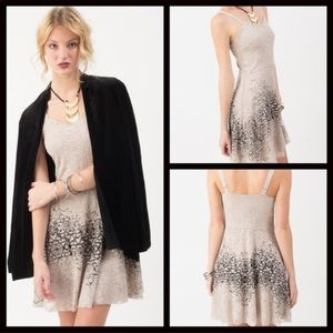 FREE PEOPLE LACE OVERLAY OMBRÉ DRESS