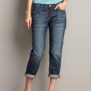 Eddie Bauer Cropped Boyfriend Jeans. 0 Petite