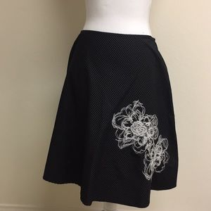 Dresses & Skirts - Black skirt with stripes and flower detail