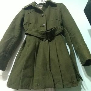 2/$140 Vintage Guess skirt style wool coat