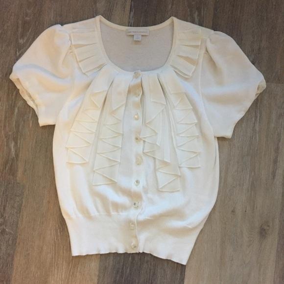 81% off New York & Company Sweaters - NY&CO Chiffon Short Sleeve ...