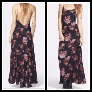 FREE PEOPLE FLORAL PRINT MAXI SLIP DRESS  SZ L-NWT