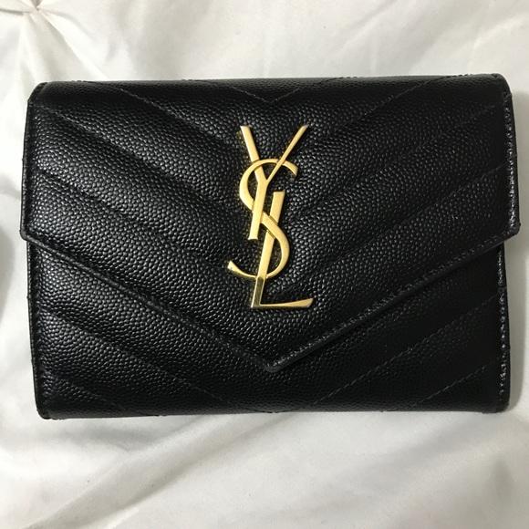 dd1eaa922ae5a YSL Yves Saint Laurent Monogram Wallet. M 59bf4004bcd4a73f340b5af5