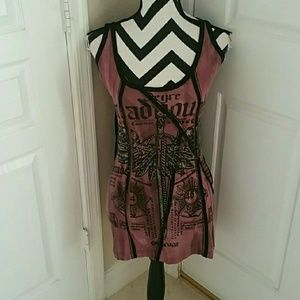 Salvage Graphic Dress NWOT