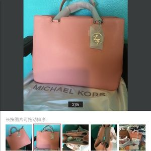 f020b7be9dbf KORS Michael Kors Bags - MICHAEL KORS Anabelle Large Leather Tote-Pale Pink