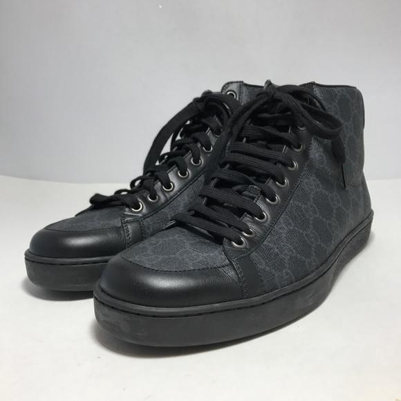 8583f96de445c Gucci Shoes | Tessuto Gg Supreme Canvas Leather High Top | Poshmark