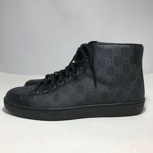 a080d8e22fc Gucci Shoes - Gucci Tessuto GG Supreme Canvas Leather High Top