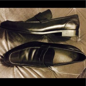 Men's Saks Fifth Ave Black Leather Shoes