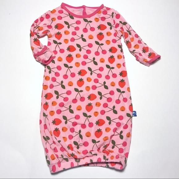 Kickee Pants Pajamas | Pink Berry Layette Gown Htf | Poshmark