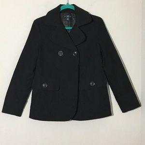 Gap Winter Coat Jacket Black Long Sleeve Sz XS