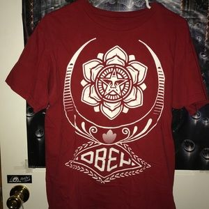 Red obey shirt