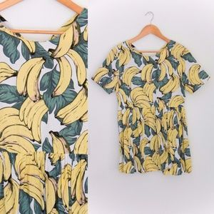 Bananas Print Dress by Pursue