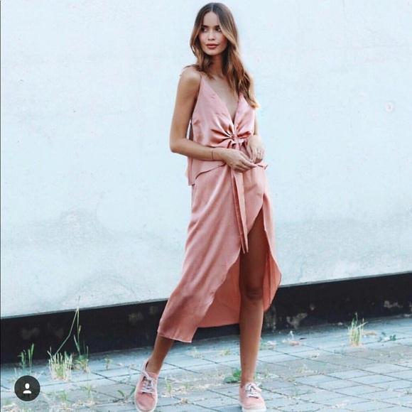 040a864a60 Sabo Skirt Dresses | Salmon Silk Maxi Dress | Poshmark