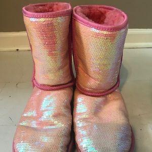UGG Shoes - Light Pink Sparkly Uggs Size 8