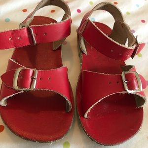 Red Leather Girl sandal toddler sz 10