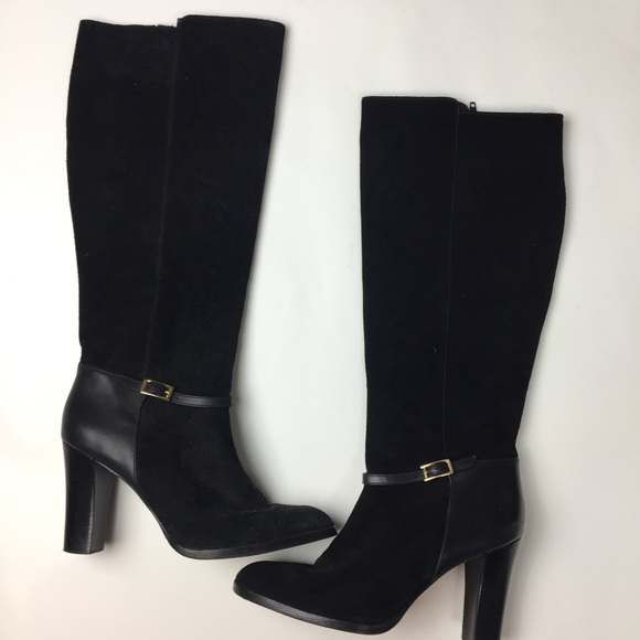 810692aa1e8 Banana Republic Shoes - Banana republic suede black knee high boots size 9