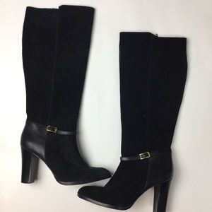 Banana republic suede black knee high boots size 9