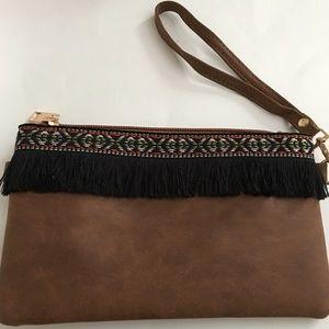 Handbags - Beautiful Fringe Wristlet/Cross body bag