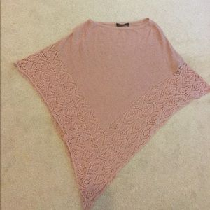 Light weight pink BCBG knit poncho