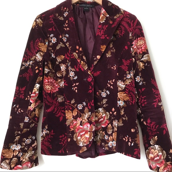 Vintage Jackets & Blazers - Vintage Floral Fall Blazer