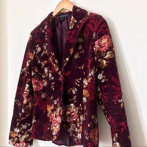 Vintage Jackets & Coats - Vintage Floral Fall Blazer
