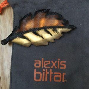 Alexis Bittar Leaf Brooch/Pin