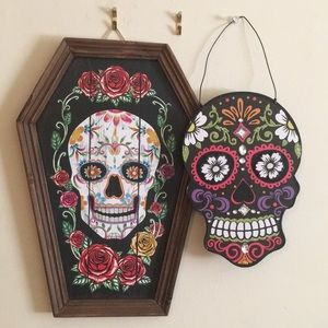 Other - NWOT Day of the dead, sugar skull door/wall decor!