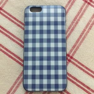 Blue & White Gingham iPhone Case