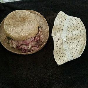 Disney fedora & spring straw hat
