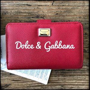 Dolce & Gabbana Dauphine Leather Wallet BNWT -$475