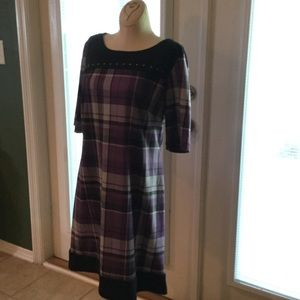Dresses & Skirts - Purple plaid dress