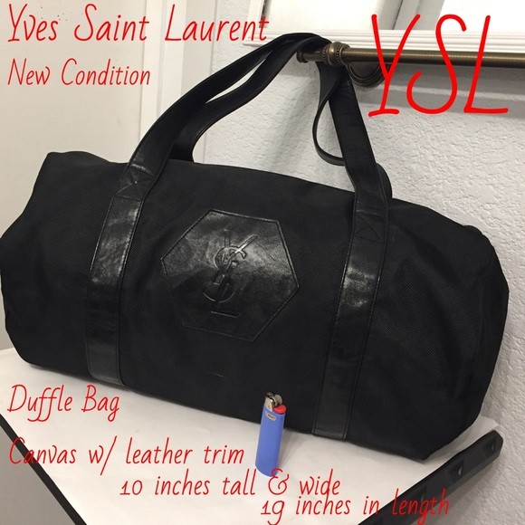 Yves Saint Laurent Other - Yves Saint Laurent duffle bag with mini pouch