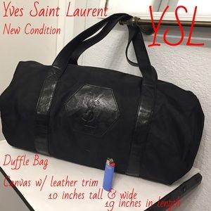 Yves Saint Laurent Bags - Yves Saint Laurent duffle bag with mini pouch