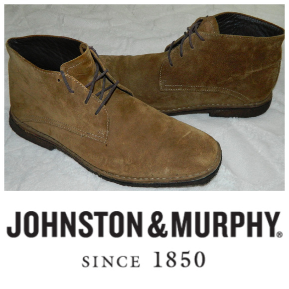 Johnston & Murphy Other - JOHNSTON & MURPHY Chukka BOOTS Mens 12 Suede TAN