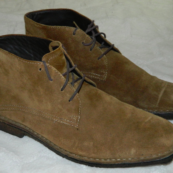 Johnston & Murphy Shoes - JOHNSTON & MURPHY Chukka BOOTS Mens 12 Suede TAN
