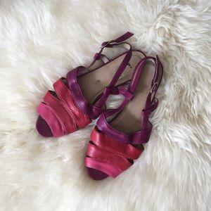 American Apparel ombré leather sandals