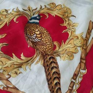 Vintage Accessories - VINTAGE Pheasant and Mallard Duck Pattern Rare