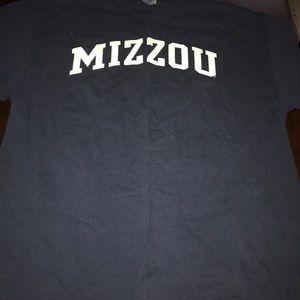 Navy Mizzou t shirt
